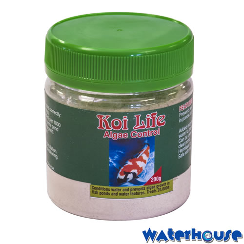 Algae control waterhouse for Koi pond algae control