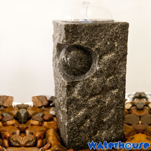 Granite Polished Burl Water Feature