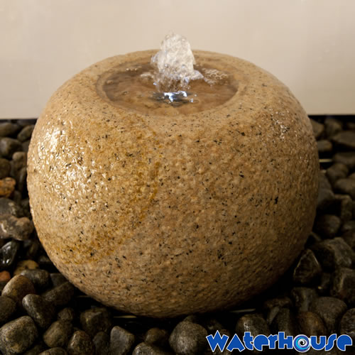 Granite Ball Water Feature
