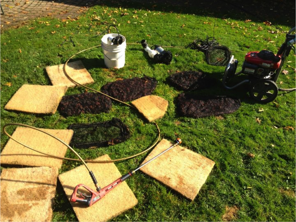 Fish pond filter removal and cleaning waterhouse for Garden pond cleaning